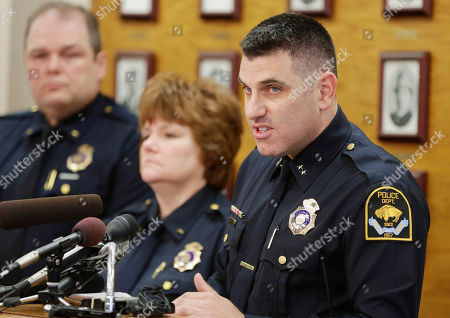 Stock Picture of Todd Schmaderer Omaha Police Chief Todd Schmaderer, right, speaks at a news conference in Omaha, Neb., . Schmaderer announced that four police officers have been fired following allegations that excessive force was used during an arrest on March 21 which was secretly recorded by a neighbor. The recorded video showed an officer grabbing 28-year-old Octavius Johnson from behind, violently throwing him to the ground and punching him while he was restrained