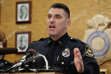 Stock Photo of Todd Schmaderer Omaha Police Chief Todd Schmaderer speaks at a news conference in Omaha, Neb., . Schmaderer announced that four police officers have been fired following allegations that excessive force was used during an arrest on March 21 which was secretly recorded by a neighbor. The recorded video showed an officer grabbing 28-year-old Octavius Johnson from behind, violently throwing him to the ground and punching him while he was restrained