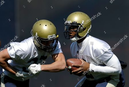 Vad Lee, Zach Laskey Georgia Tech quarterback Vad Lee, right, and running back Zach Laskey, left, run through the team's spring NCAA college football practice in Atlanta. Georgia Tech didn't have a 1,000-yard rusher last season. That doesn't mean the Yellow Jackets, who are a week away from their spring game, didn't have their usually productive running game. They attacked with a deep corps of running backs, and Zach Laskey, David Sims and others are returning for 2013