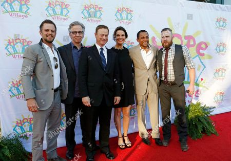Carmine Giovinazzo, Robert Joy, Gary Sinise, Sela Ward, Hill Harper, A.J. Buckley The cast of CSI: NY join their cast mate Sela Ward, fourth from left, at the10th anniversary of Hope Village for Children, a residential group home for abused and neglected children, founded by Ward in her hometown of Meridian, Miss., . From left are Carmine Giovinazzo, Robert Joy, Gary Sinise, Ward, Hill Harper and A.J. Buckley