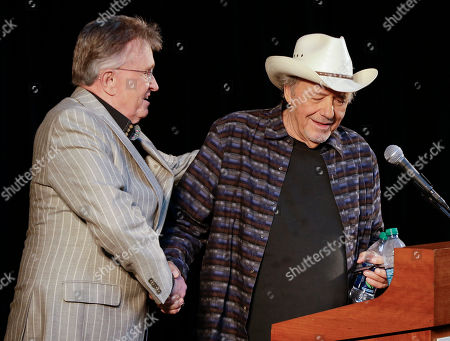 Bobby Bare, Bill Anderson Bobby Bare, right, is introduced by Bill Anderson, in Nashville, Tenn., during the announcement of the newest members of the Country Music Hall of Fame. Bare will be inducted with Kenny Rogers and Jack Clement