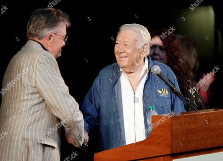 Bill Anderson, Jack Clement Jack Clement, right, is congratulated by Bill Anderson, left, after it was announced, in Nashville, Tenn., that Clement will be inducted into the Country Music Hall of Fame