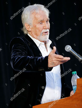 Kenny Rogers Kenny Rogers speaks, in Nashville, Tenn., during the announcement that he will be inducted into the Country Music Hall of Fame. Rogers will be inducted with Bobby Bare and Jack Clement