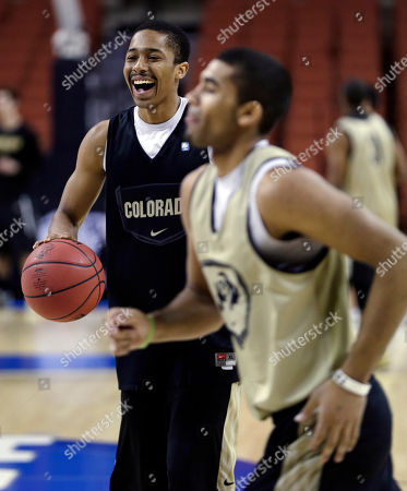 Spencer Dinwiddie Colorado's Spencer Dinwiddie smiles during practice for a second-round game of the NCAA college basketball tournament, in Austin, Texas. Colorado is scheduled to play Illinois on Friday