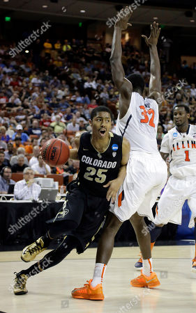 Spencer Dinwiddie, Nnanna Egwu Colorado's Spencer Dinwiddie drives around Illinois' Nnanna Egwu (32) during the first half of a second-round game of the NCAA college basketball tournament, in Austin, Texas