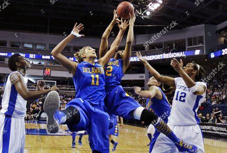 Editorial photo of NCAA Delaware Kentucky Basketball, Bridgeport, USA
