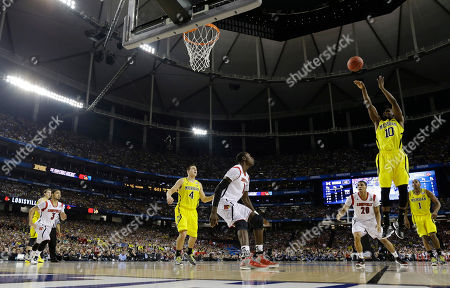 Tim Hardaway Jr Michigan's Tim Hardaway Jr. (10) shoots against the Louisville during the second half of the NCAA Final Four tournament college basketball championship game, in Atlanta