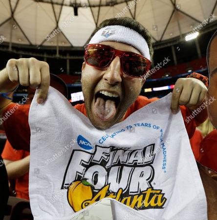 Editorial picture of NCAA Final Four Michigan Louisville Basketball, Atlanta, USA