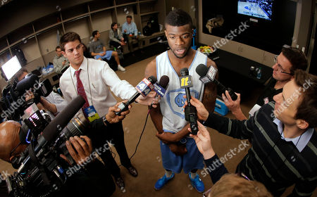 Reggie Bullock North Carolina's Reggie Bullock talks to reporters in the locker room after practice for a third-round game in the NCAA men's college basketball tournament, in Kansas City, Mo. North Carolina plays Kansas on Sunday