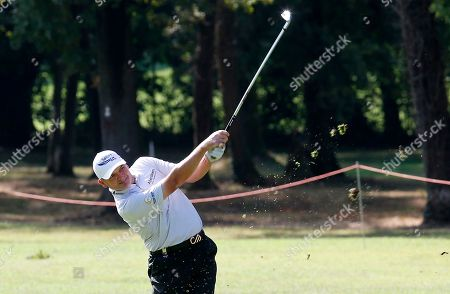 Scottish Paul Lawrie hits the ball during the 73th Italy Open Golf Championship in Monza, Italy