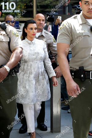 Kim Kardashian West Kim Kardashian West leaves Los Angeles County Superior Court after a hearing in her divorce from Kris Humphries