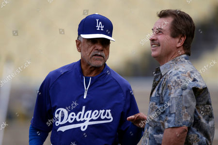 Davey Lopes, Ron Cey Former Dodger greats Davey Lopes, left, and Ron Cey chat before a Pittsburgh Pirates-Los Angeles Dodgers National League baseball game in Los Angeles