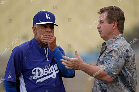Davey Lopes, Ron Cey Former Dodger greats Davey Lopes, left, and Ron Cey chat before a Pittsburgh Pirates-Los Angeles Dodgers baseball game in Los Angeles