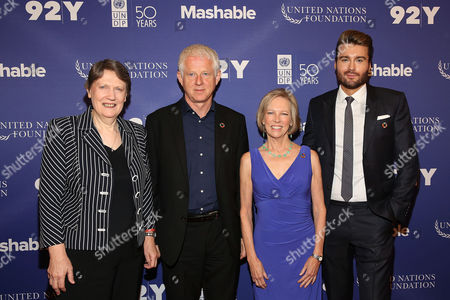 Helen Clark, Richard Curtis, Kathy Calvin, Pete Cashmore From left, Administrator of the United Nations Development Program and 37th Prime Minister of New Zealand, Helen Clark, Screenwriter, Producer and Film Director, Richard Curtis, President and Chief Executive Officer of the United Nations Foundation, Kathy Calvin and CEO and founder of Mashable, Pete Cashmore, attend The Social Good Summit at the 92nd Street Y, in New York