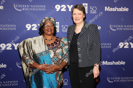 Dr. Joyce Banda, Helen Clark Former President of Malawi, Dr. Joyce Banda and Administrator of the United Nations Development Program and 37th Prime Minister of New Zealand, Helen Clark, attend The Social Good Summit at the 92nd Street Y, in New York