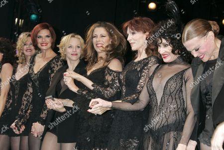 Melanie Griffith, Brooke Shields, Charlotte d'Amboise, Rita Wilson, Marilu Henner, Chita Rivera and Ann Reinking