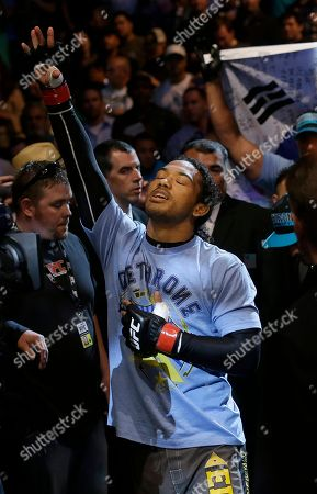 Benson Henderson Benson Henderson walks to the ring before fighting Gilbert Melendez in a UFC lightweight championship mixed martial arts fight in San Jose, Calif., . Henderson won by split decision to retain the championship