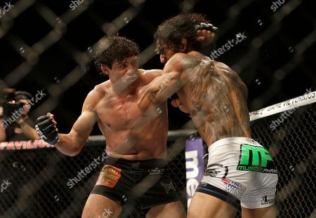 Benson Henderson, Gilbert Melendez Gilbert Melendez, left, fights Benson Henderson in a UFC lightweight championship mixed martial arts fight in San Jose, Calif., . Henderson won by split decision to retain the championship