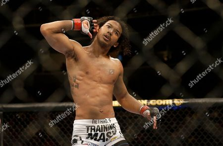 Benson Henderson Benson Henderson gestures while fighting Gilbert Melendez in a UFC lightweight championship mixed martial arts fight in San Jose, Calif., . Henderson won by split decision to retain the championship