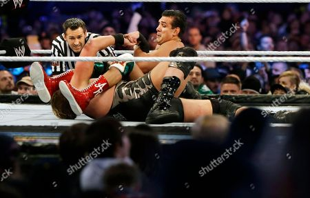 """Jacob """"Jake"""" Hager, Jr., Jose Alberto Rodríguez Jose Alberto Rodríguez, top, of Mexico, known as Alberto Del Rio wrestles Jacob """"Jake"""" Hager, Jr., known as Jack Swagger, in East Rutherford, N.J., during the WWE Wrestlemania 29 event"""