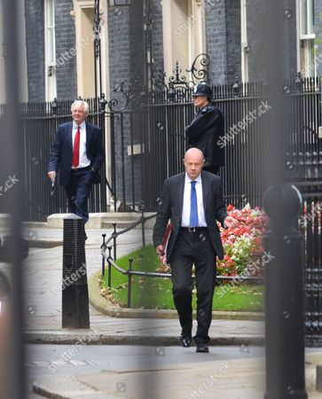 David Davis, Damien Green. Cabinet ministers at Downing Street.