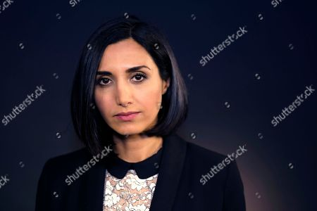 """Narges Rashidi Iranian-German actress Narges Rashidi poses for a photo after an interview in Los Angeles on . Rashidi stars in the Farsi-language thriller """"Under the Shadow"""" that is the United Kingdom's Foreign Language Academy Award entry for 2016"""