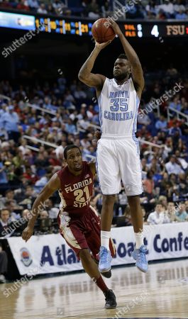 Reggie Bullock, Michael Snaer North Carolina's Reggie Bullock (35) shoots over Florida State's Michael Snaer (21) during the first half of an NCAA college basketball game at the Atlantic Coast Conference tournament in Greensboro, N.C