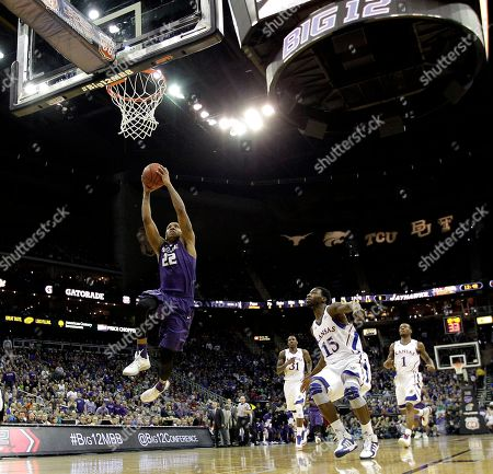 Rodney McGruder Kansas State guard Rodney McGruder (22) gets past Kansas guard Elijah Johnson (15) to put up a shot during the first half of the championship NCAA college basketball game of the Big 12 men's tournament, in Kansas City, Mo