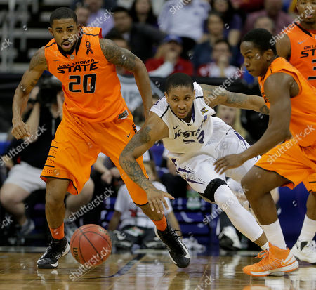 Rodney McGruder Kansas State guard Rodney McGruder, center, chases a loose ball with Oklahoma State forward Michael Cobbins (20) and guard Kirby Gardner (1) during the first half an NCAA college basketball game in the Big 12 men's tournament, in Kansas City, Mo