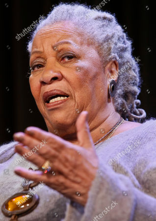 """Toni Morrison Author Toni Morrison speaking during an interview about her latest book """"Home,"""" in New York. Novelist Marilynne Robinson, economist Thomas Piketty and cartoonist Roz Chast are among the finalists for National Book Critics Circle prizes. The Nobel laureate Morrison will receive a lifetime achievement award. The 30 nominees for six competitive categories were announced Monday, Jan. 19, 2015"""