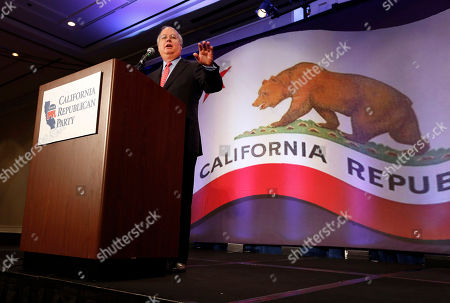 "Karl Rove Republican strategist Karl Rove gestures while at a luncheon at the California Republican Party convention, in Sacramento, Calif., . Rove told California Republicans to ""get off the mat"", and to find candidates to reflect the party's diversity"