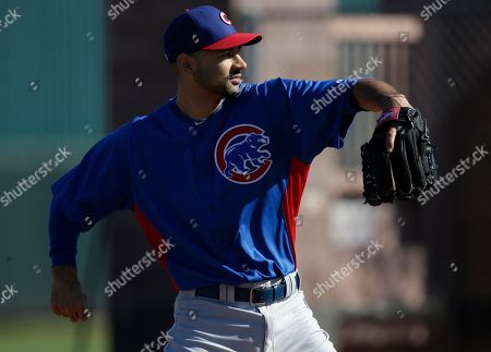 Cory Wade Chicago Cubs Cory Wade during a spring training baseball workout, in Mesa, Ariz