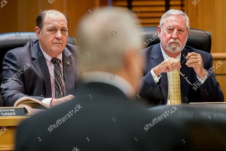 Stock Image of Ron Lollar, Curtis Halford Republican Reps. Ron Lollar of Bartlett, left, and Curtis Halford of Dyer listen to testimony from Jim Henry, the interim commissioner of the Department of Children's Services, during a hearing of the House Government Operations Committee in Nashville, Tenn., on