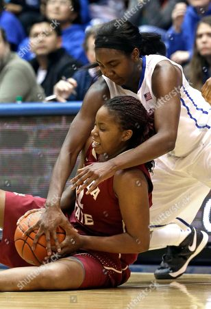Elizabeth Williams, Lauren Coleman Duke's Elizabeth Williams, top, reaches over Florida State's Lauren Coleman during the second half of an NCAA college basketball game in Durham, N.C., . Duke won 61-50