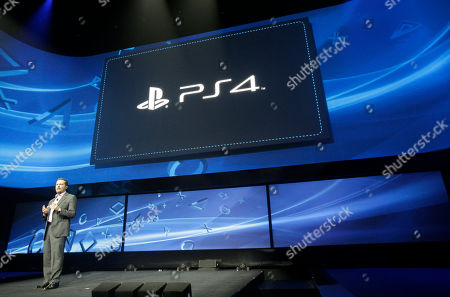 Mark Cerny Andrew House speaks at an event to announce the Sony Playstation 4 in New York. Sony Corp. plans to go into deeper detail at Electronic Entertainment Expo in June in Los Angeles about the system