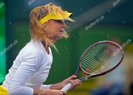 Daniela Hantuchova Wind blows the hair of Daniela Hantuchova, of Slovakia, during her match against Stephanie Foretz Gacon, of France, at the BNP Paribas Open tennis tournament, in Indian Wells, Calif