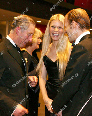 Prince Charles speaking to Gwyneth Paltrow and Prince Kyril of Bulgaria