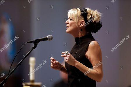 Stock Picture of Bekka Bramlett Bekka Bramlett sings during a memorial service for country singer Mindy McCready, in Nashville, Tenn. McCready committed suicide Feb. 17 in Heber Springs, Ark
