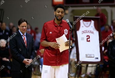 Christian Watford Indiana's Christian Watford (2) speaks during his senior night speech following an NCAA college basketball game against Ohio State, in Bloomington, Ind. Ohio State defeated Indiana 67-58