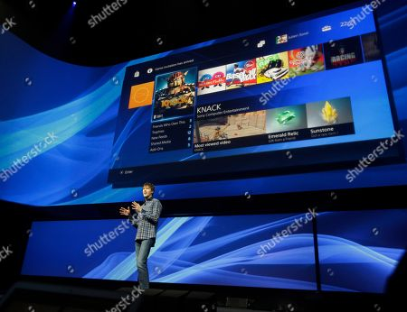 Mark Cerny, lead system architect for the Sony Playstation 4, speaks during a news conference to announce the new video game console, in New York