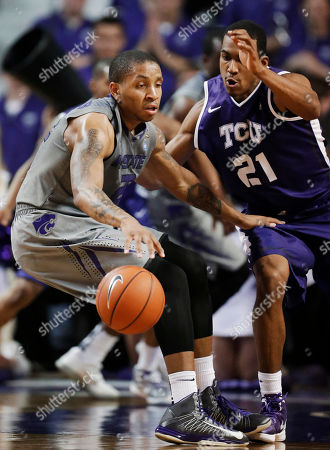 Rodney McGruder, Nate Butler Lind Kansas State guard Rodney McGruder (22) is covered by TCU guard Nate Butler Lind (21) during the first half of an NCAA college basketball game in Manhattan, Kan