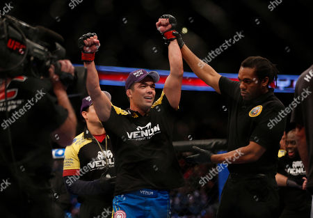 Lyoto Machida Lyoto Machida celebrates his split decision win against Dan Henderson after their UFC 157 light heavyweight mixed martial arts match in Anaheim, Calif