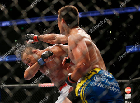 Dan Henderson, Lyoto Machida Lyoto Machida, right, of Brazil, lands a punch to the face of Dan Henderson during their UFC 157 light heavyweight mixed martial arts match in Anaheim, Calif., . Machida won by split decision after the third round