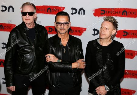 Editorial photo of Depeche Mode promote new album 'Spirit' and world tour, Milan, Italy - 11 Oct 2016