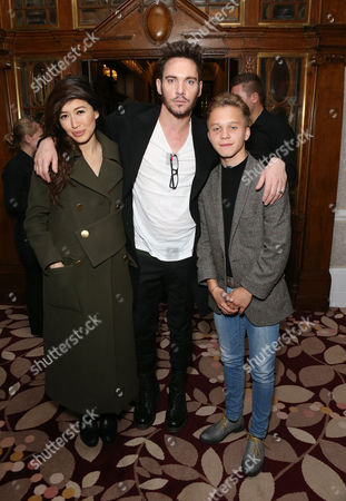 Jonathan Rhys Meyers with girlfriend and Daniel Huttlestone