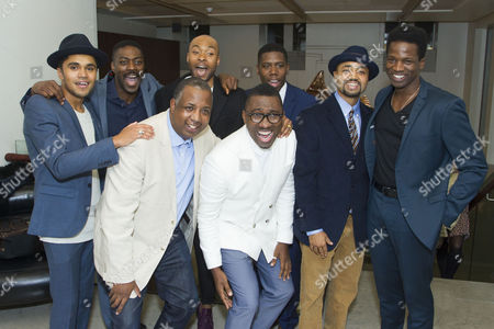 Josh Williams (Jamaal), David Ajala (Jim Brown), Kemp Powers (Author), Arinze Kene (Sam Cooke), Kwame Kwei-Armah (Director), Dwane Walcott (Kareem), Francois Battiste (Malcolm X) and Sope Dirisu (Cassius Clay)