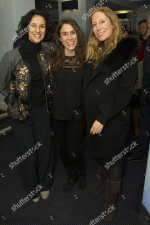 Indira Varma, Emily Bruni (Woman) and Nina Raine