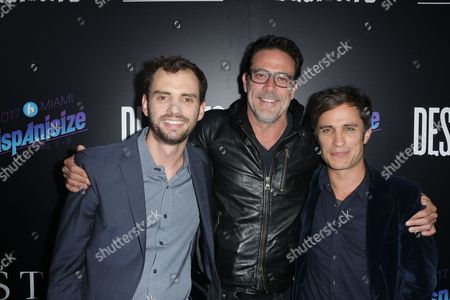 Jonas Cuaron and Gael Garcia Bernal with Jeffrey Dean Morgan