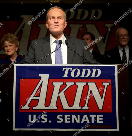 Todd Akin U.S. Senate candidate, Rep. Todd Akin, R-Mo., speaks to supporters after loosing to U.S. Sen. Claire McCaskill, D-Mo., in Chesterfield, Mo