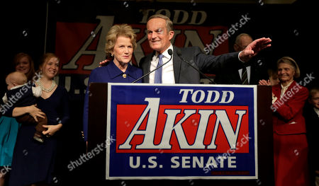 Todd Akin U.S. Senate candidate, Rep. Todd Akin, R-Mo., and his wife Lulli acknowledge supporters before Akin makes his concession speech to U.S. Sen. Claire McCaskill, D-Mo., in Chesterfield, Mo